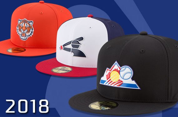 4554ef36cbb24d ... Spring Training, Batting Practice in 2018 #MLB See all 42 new caps, and  read all about the details of the new designs here: ...