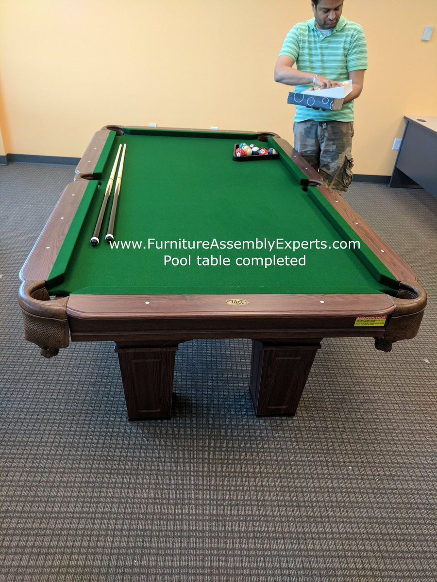 FURNITURE EXPERTS MOVERS On Twitter BILLIARD POOL TABLE Assembly - Pool table movers delaware