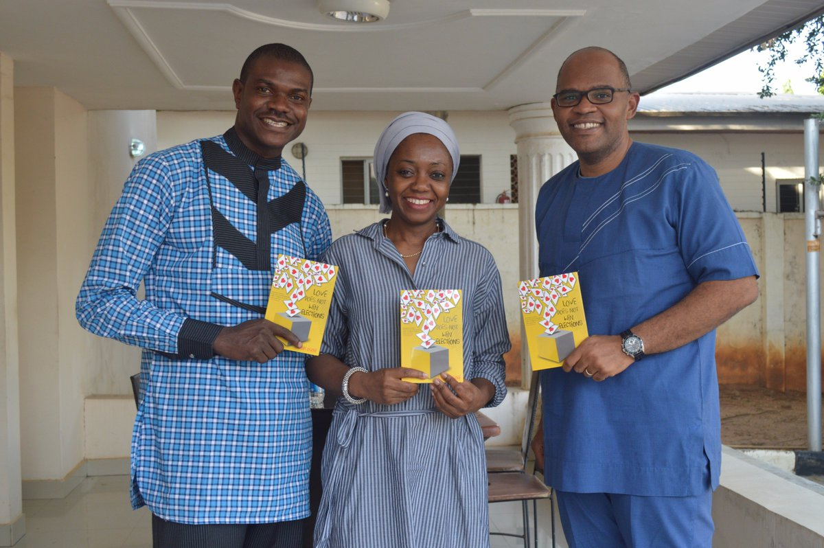 Great talking with @Naijavote about #LoveDoesNotWinElections. Its great insight into the #behindthescenes of running for office in #Nigeria. Great Book! #NoBarriersNG #runforsomething Thanks for stopping by! <br>http://pic.twitter.com/G32yMPvuOm