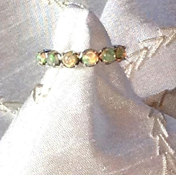 Welo #Opal Eternity #Ring or #Wedding Band #NorthCoastCottage  https:// buff.ly/2zRmqxf  &nbsp;    @Etsy #handmade #jewelry #ph…<br>http://pic.twitter.com/UpFxjoWHhl