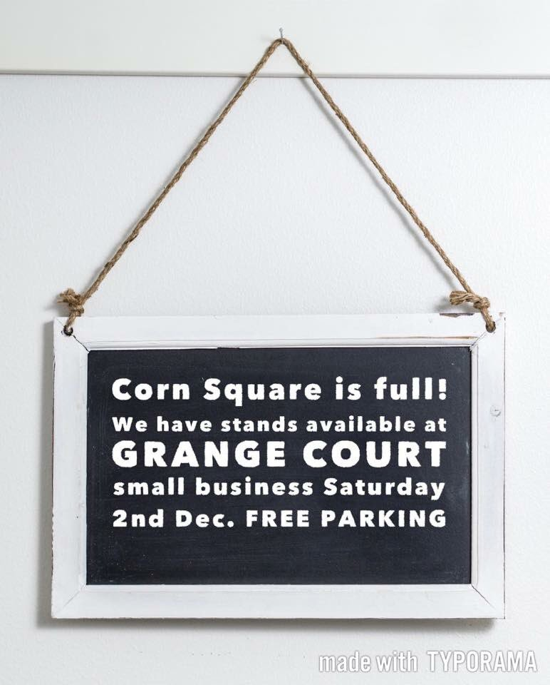 #herefordhour shop 'til you drop #leominster 02/12 #Freeparking @SmallBizSatUK our biz market in Corn Square is full, still have stands available @GrangeCourtLeo promote your #indiebiz<br>http://pic.twitter.com/Rws1a8lWGd
