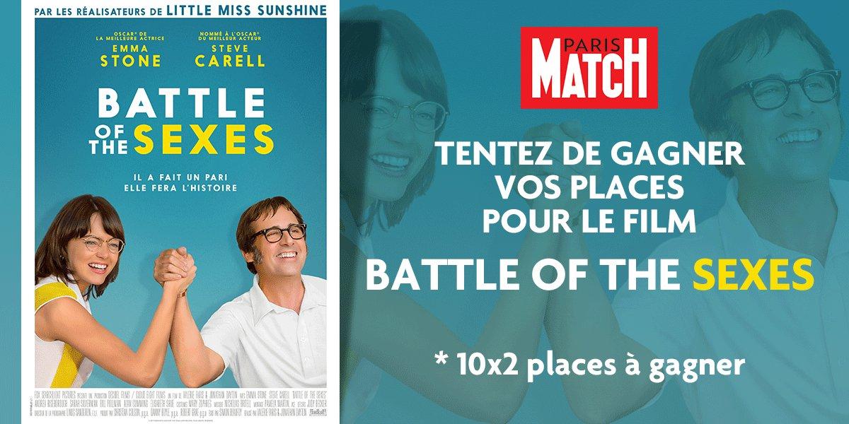 RT + follow pour tenter de gagner vos places de cinéma pour le film 'Battle of the sexes'. Tirage au sort demain midi