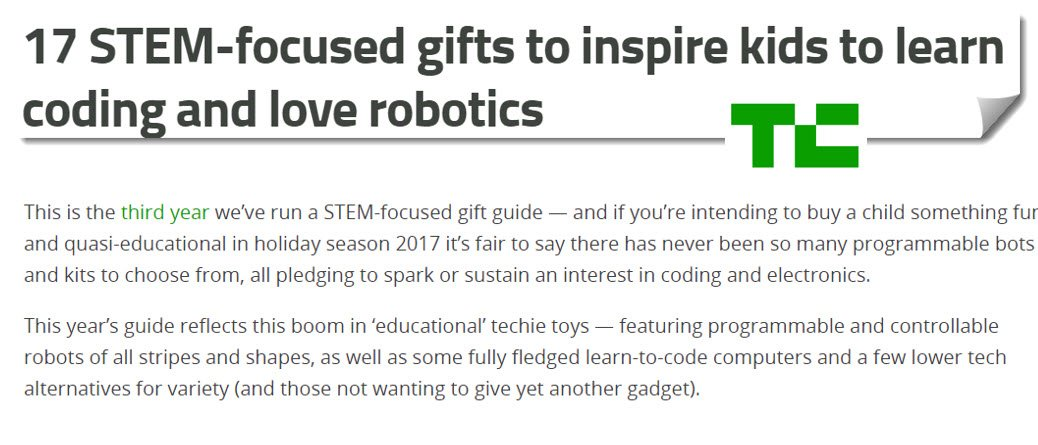 17 #STEM-focused #gifts to inspire #kids to #learn #coding &amp; love #robotics  https:// goo.gl/CuwoRq  &nbsp;   #edtech #elearning #mlearning #EdApps <br>http://pic.twitter.com/yqfTuOgU4f