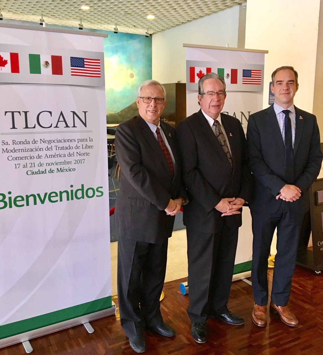Up bright and early representing Team Ontario at #NAFTA renegotiations in #MexicoCity