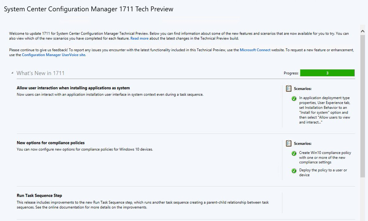 Configuration Manager Technical Preview 1711 - What's new? - Peter