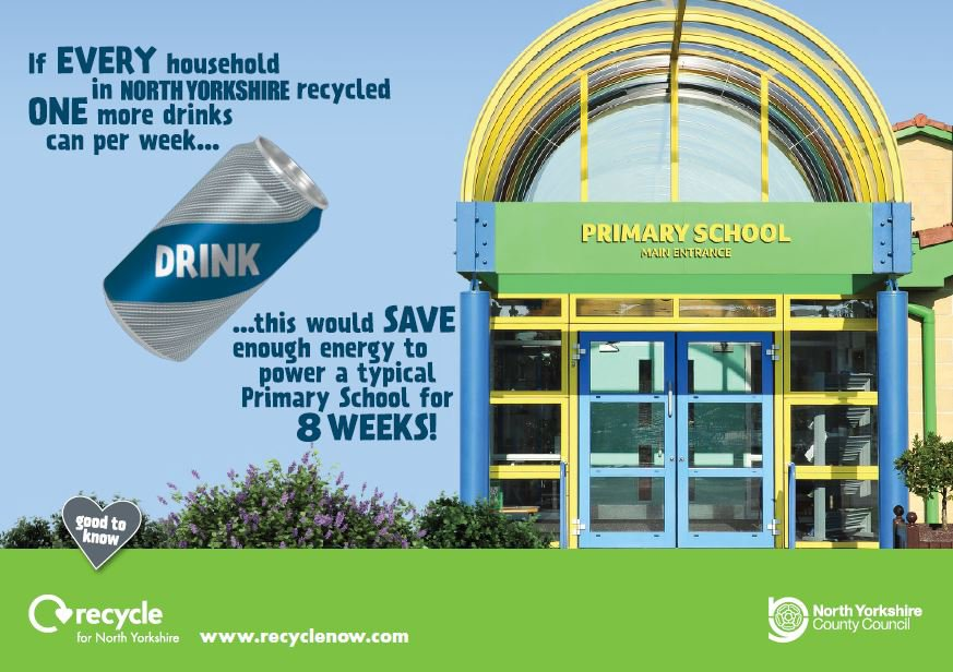 If every household in #NorthYorkshire recycled one more drinks can per week this would save enough energy to power a typical primary school for 8 weeks.  http://www. recyclenow.com  &nbsp;   #OurDay #NYCC24<br>http://pic.twitter.com/4Xt5pwQcrN