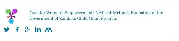 Delighted that our #mixedmethods article on #Zambia&#39;s child grant was picked as one of @WorldDevJournal&#39;s top social media pubs for 2017 via @PlumAnalytics #PlumXmetrics: Let&#39;s continue this trend   http:// goo.gl/cekQc5  &nbsp;  <br>http://pic.twitter.com/9eFR8uuYjL