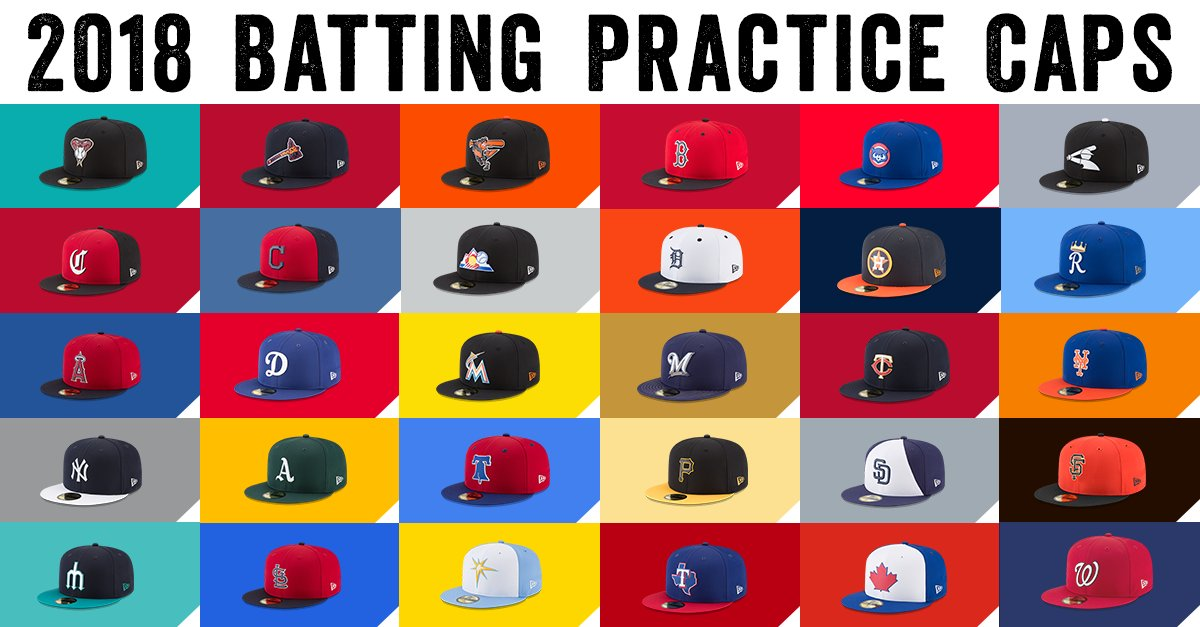 The 2018 batting practice hats from @New...
