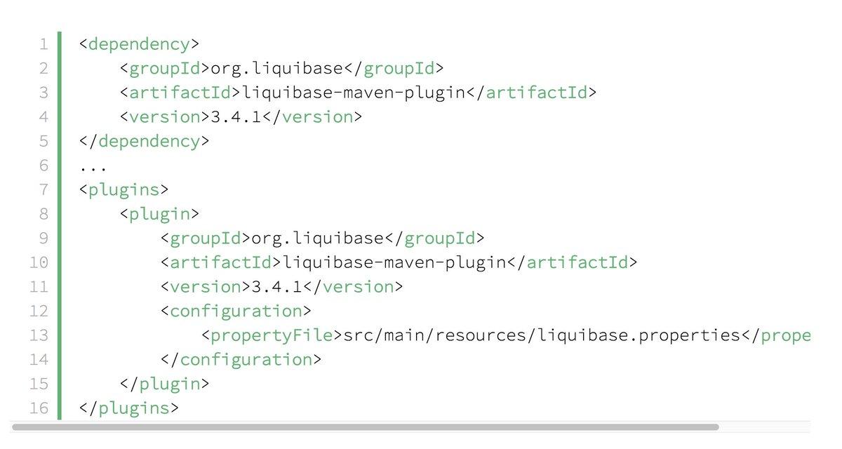 Liquibase to evolve the database schema