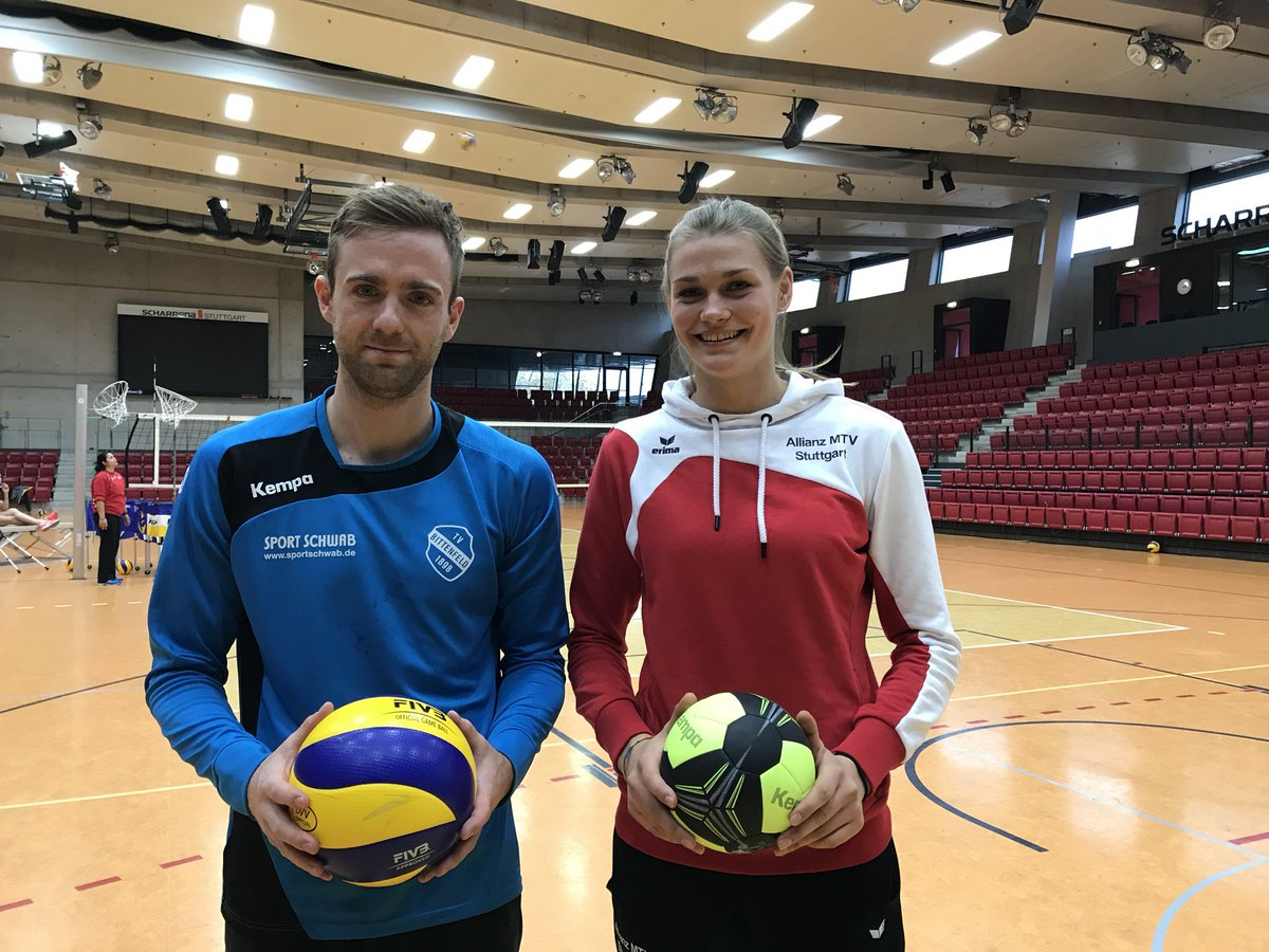 Handball vs. Volleyball! #goStuttgart @AMSVolley https://t.co/kRi1u4Owvn