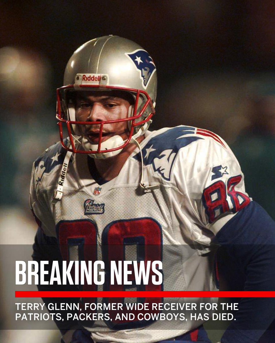 Breaking: Former NFL wide receiver Terry Glenn has died at 43 after being involved in a suspected car accident in Texas.
