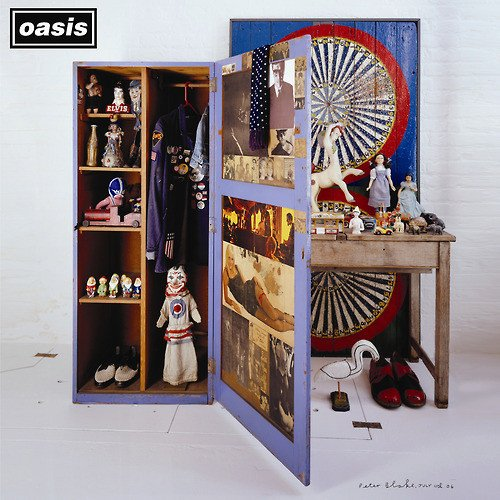 "Stop The Clocks' is 11 today! The cover was designed by Sir Peter Blake, designer behind the Sgt. Pepper's sleeve, who chose random objects to fill the image Using the mystery of Definitely Maybe' and running away with it"". Listen here: Oasis.lnk.to/STC"