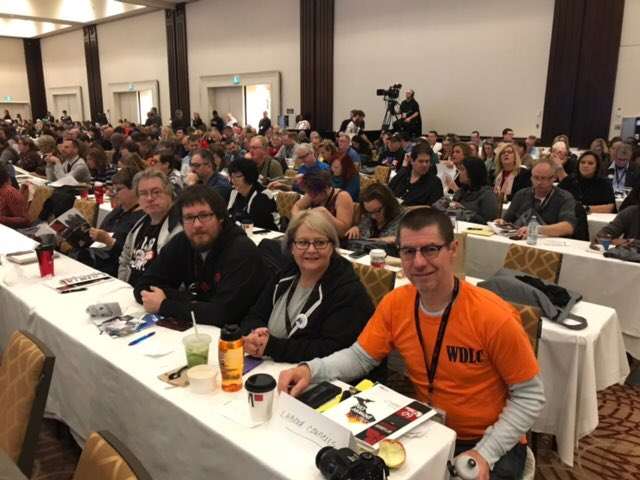 #Windsor District Labour Council representatives at the Ontario Federation of Labour Convention @OFLabour #PowerON<br>http://pic.twitter.com/FfG7r7GQBj