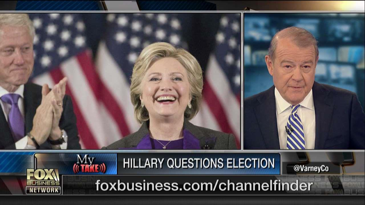.@Varneyco: 'Hillary has not gotten over [the election], she can't let go and she's trying to rewrite the story.' https://t.co/mvZvo7jkEP
