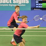 Badminton: Doubles SILVER for twins @CGrimley_ @_matthewgriml...