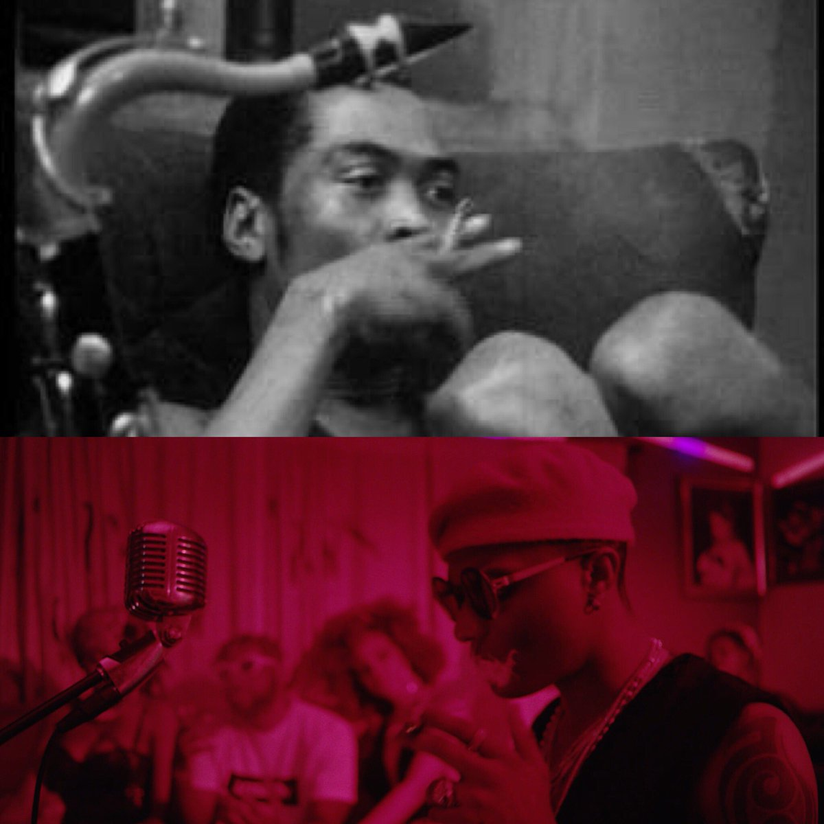 ... have watched a FELA documentary at some point and I thought It would be  super cool to make some references to his  lifestyle.pic.twitter.com/8osUd2Jsx2
