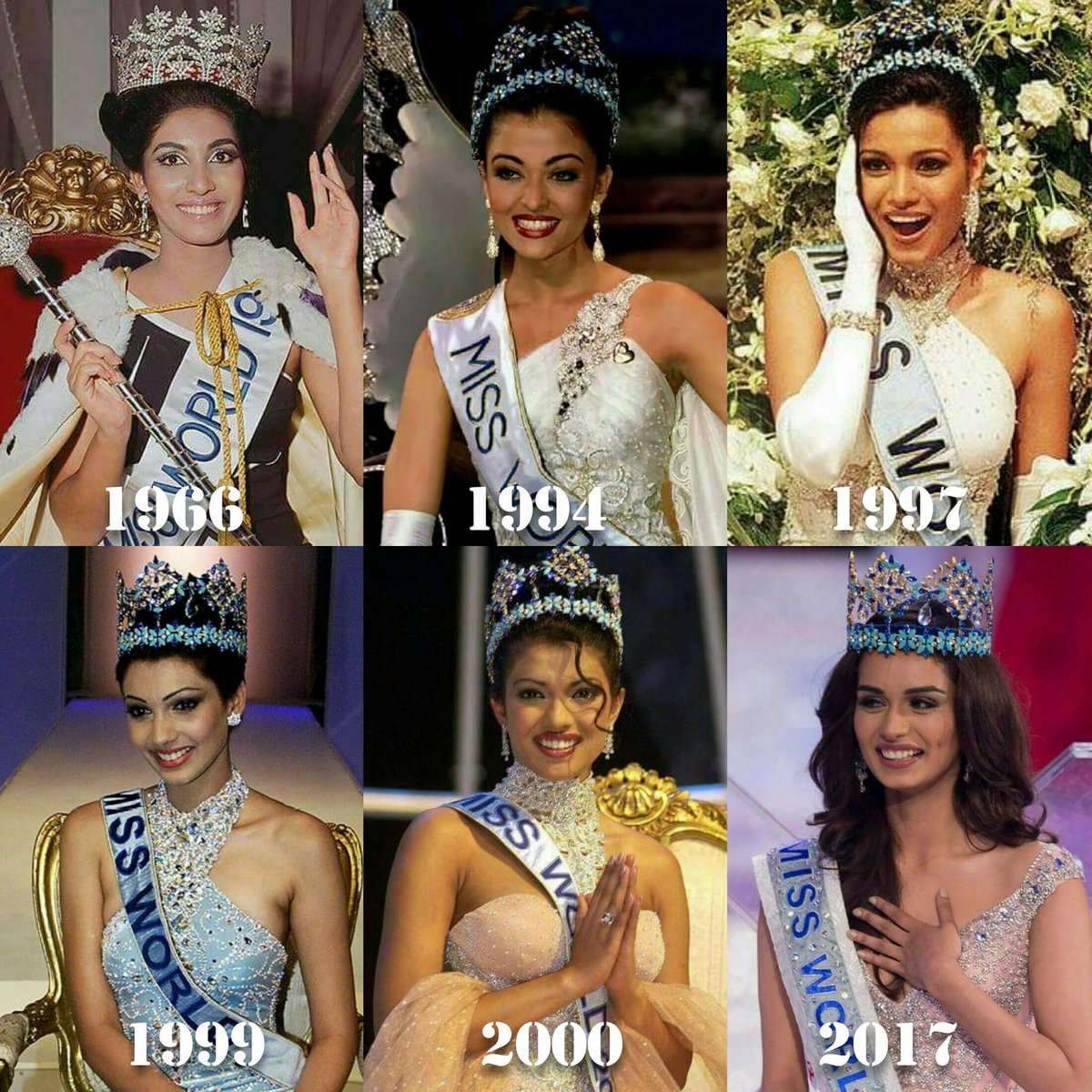 """alom marshall on twitter: """"6 miss world winners from india 1966"""