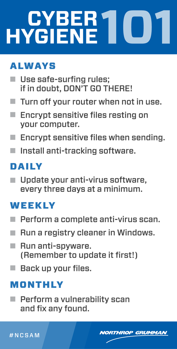 How is your cyber hygiene? #HIPAA #AI #Cloud #tech #DataScience #cryptocurrency #insurtech #fintech  #Mpgvip #USA #Travel #axa #Insurance #MACRA #Dentist #Physicians #Doctors #HealthIT #healthcare #Business #medical #hospital #Lawyers #dentist #infosec #MondayMotivation<br>http://pic.twitter.com/kblKEIFsM6