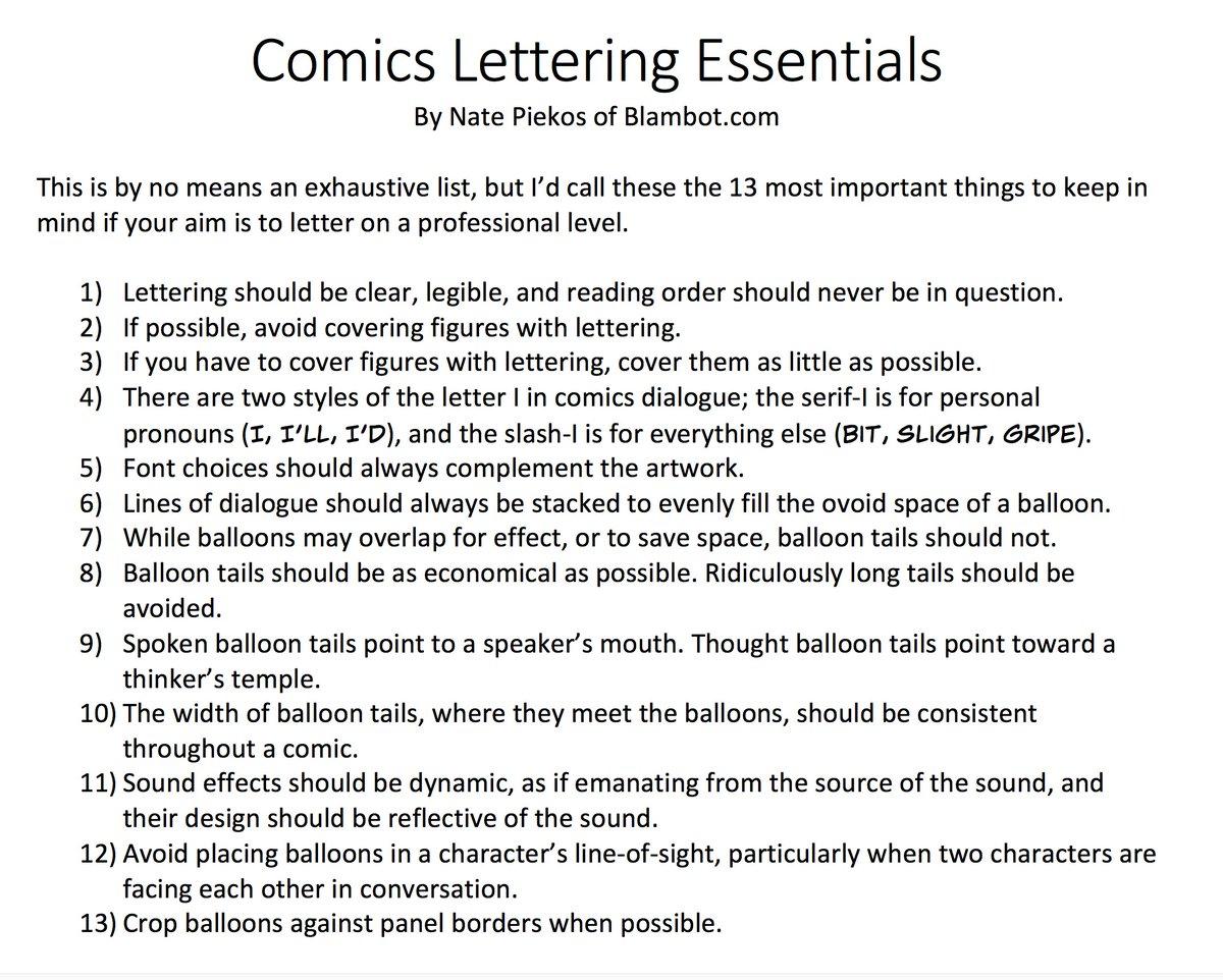 "test Twitter Media - RT @blambot: Here's my ""tight 13"" essentials of comics lettering. #comics #lettering #blambot https://t.co/VCcShVLyaj"