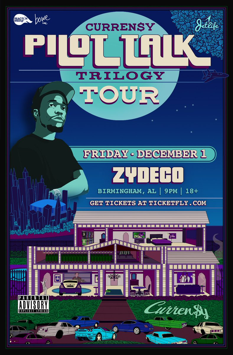 #Clubhouse opening up for Curren$y December 1 at Zydeco (Birmingham)! You GOTTA fall through. The cloud finna be thick af in this bit. Huge opportunity for us, and we need you there! Hit @TroyDavis__ for tickets!<br>http://pic.twitter.com/gtXhSVtPbW
