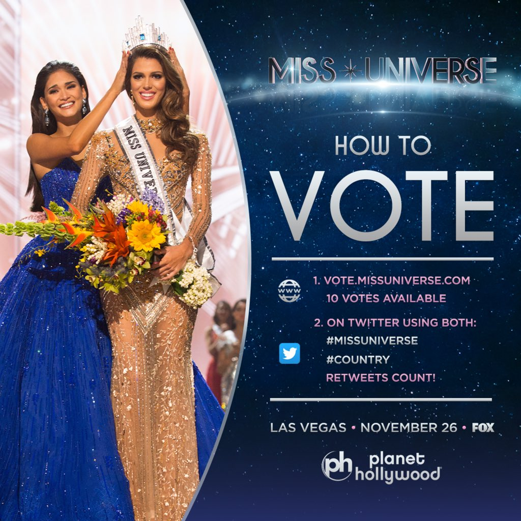 Miss Universe On Twitter Voting Is Officially Open Vote For Your