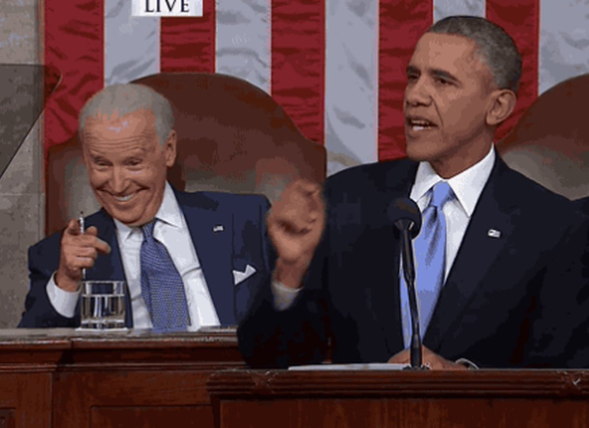 ME:  Joe, about halfway through the speech, I'm gonna wish you a happy birth-- BIDEN:  IT'S MY BIRTHDAY! ME:  Joe.   Happy birthday to @JoeBiden, my brother and the best vice president anybody could have.