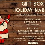 The FULL Gift Box Holiday Market at The Art Station - Big Shanty is open from November 27 to December 16 in Kennesaw. Stop by for festive gifts made by local artists and crafters!