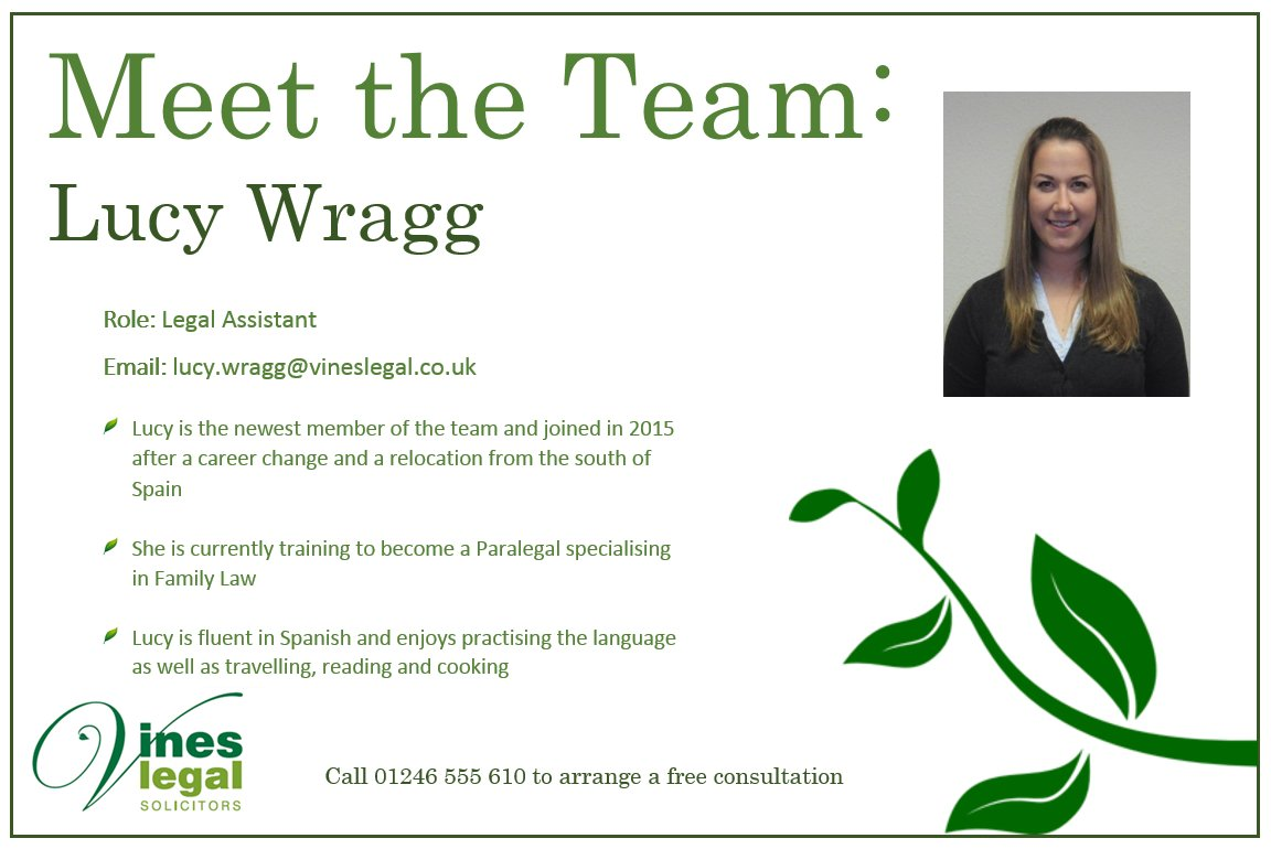 Meet Lucy Wragg here at #Vines #Legal #DerbyshireIS #Chesterfield #Sheffieldissuper #divorce #separation #family<br>http://pic.twitter.com/Vd9ZivxUhC