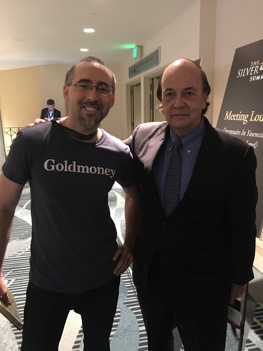 Just casually hanging out with my favorite author @JamesGRickards at #SilverGoldSummit in #SF! Thanks for the picture Jim! #thenewcaseforgold #gold<br>http://pic.twitter.com/bR2B93W3XC