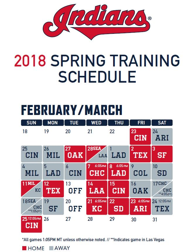 picture about Indians Schedule Printable named Cleveland Indians upon Twitter: \