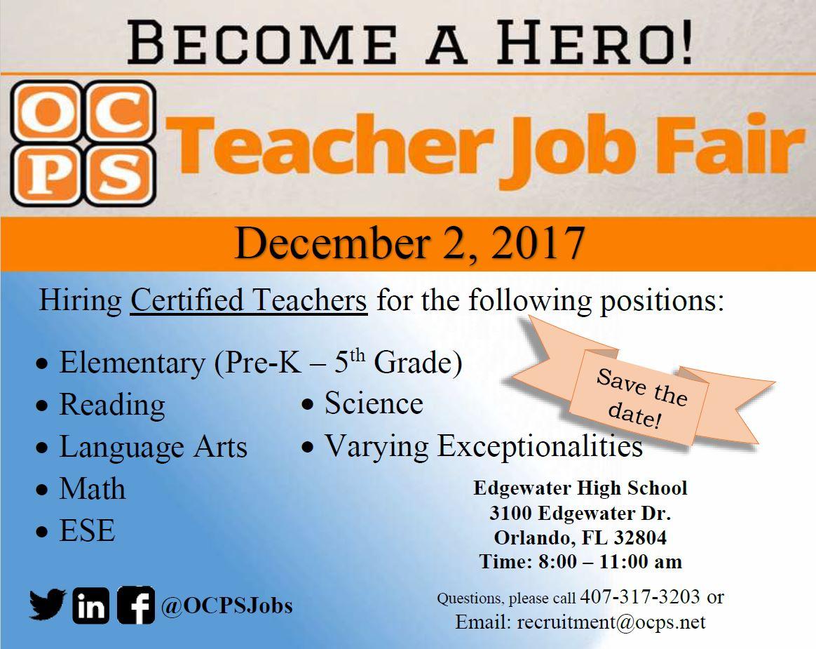 Teacher Job Fair Draws In Hundreds Of Applicants To Edgewater High School Orlando Sentinel