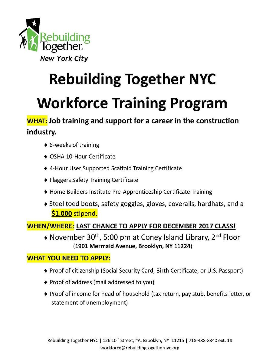 Mark Treyger On Twitter Fyi Job Opportunities Career Training