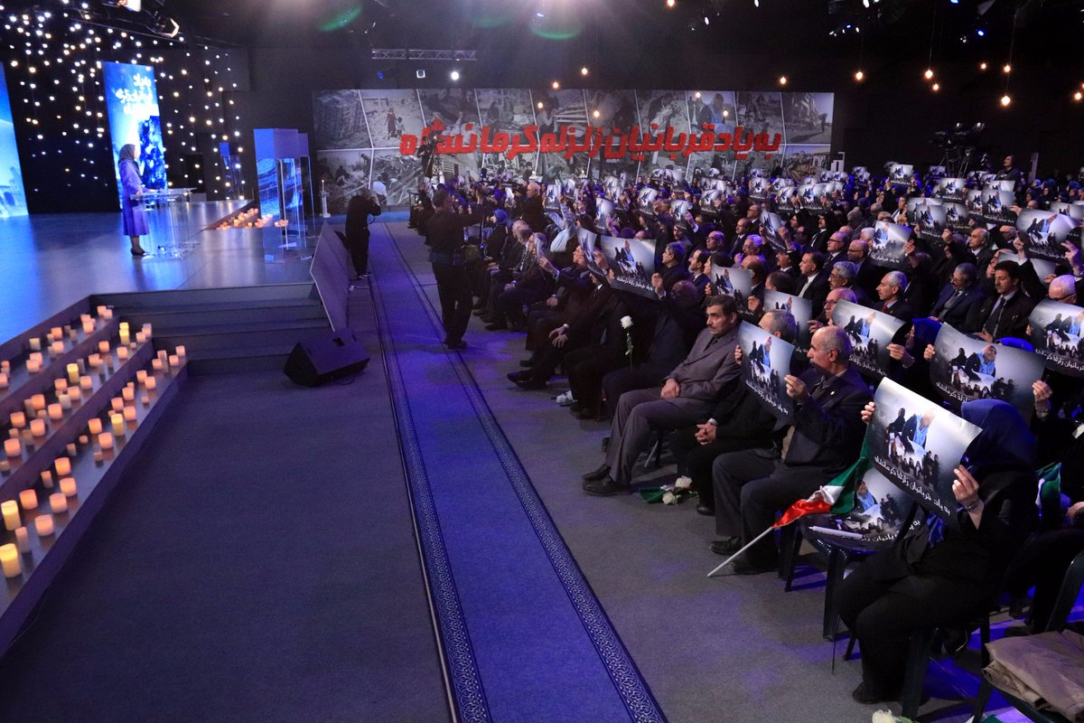 We have gathered to commemorate our fellow compatriots who lost their lives in the earthquake in #Kermanshah Province, to express our sympathies with those injured and wounded in this terrible incident and the tens of thousands of families whose homes were ruined. #Iran <br>http://pic.twitter.com/QuKsAi8fMP