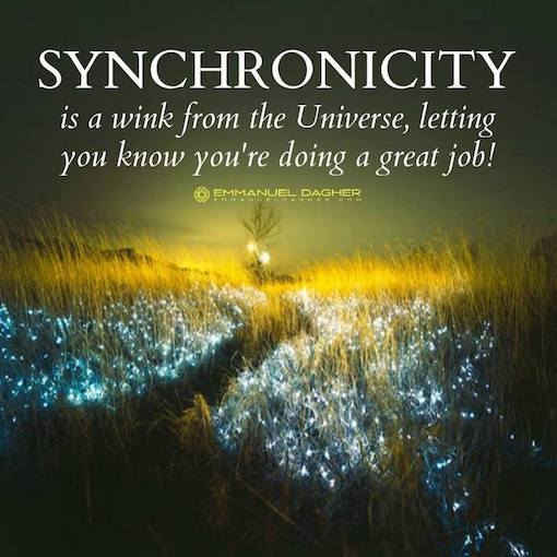 #Synchronicity is a wink from the Universe...   #JoyTrain   #makeyourownlane  #IQRTG<br>http://pic.twitter.com/duqO5DsMFU