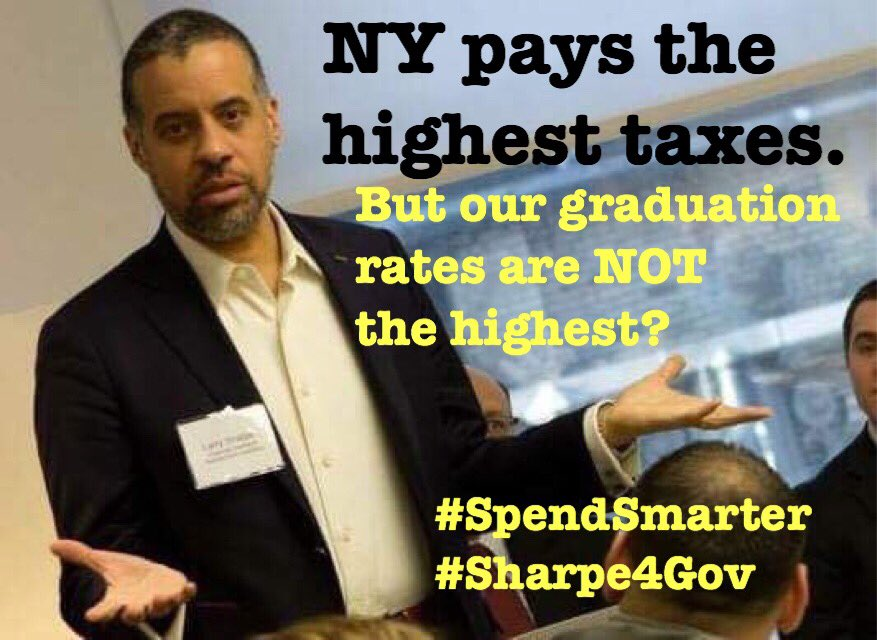 What are all these astronomically high taxes paying for? #Sharpe4Gov #aNewNY #Libertarian #NY #NYtaxes #cuomo #educationreform<br>http://pic.twitter.com/Kns18fRsYT