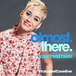 The numbers are looking good 📈 👍 #KatysBestCoverEver is *almost* trending! Keep tweeting #KatyCats