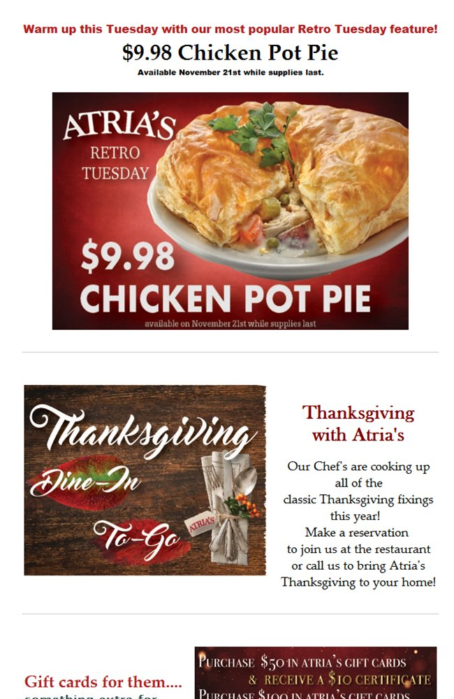 Atrias restaurant on twitter 998 chicken pot pie gift cards 998 chicken pot pie gift cards and more httpbit2jgo9ks picitter4otc2yma8y forumfinder Images