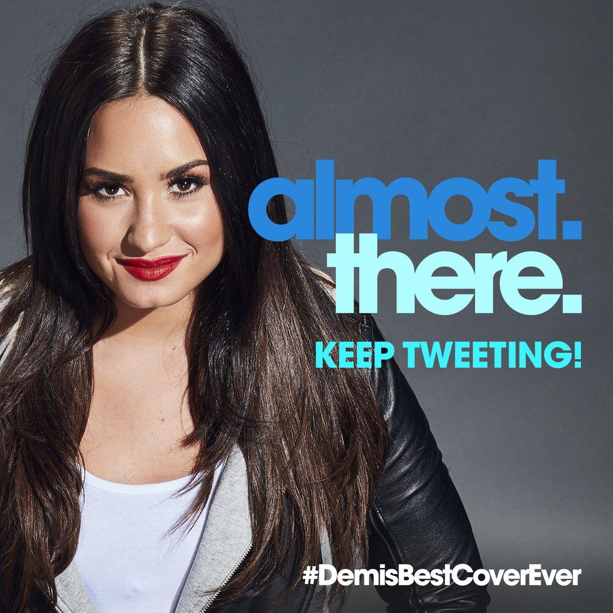 #DemisBestCoverEver is almost trending!...