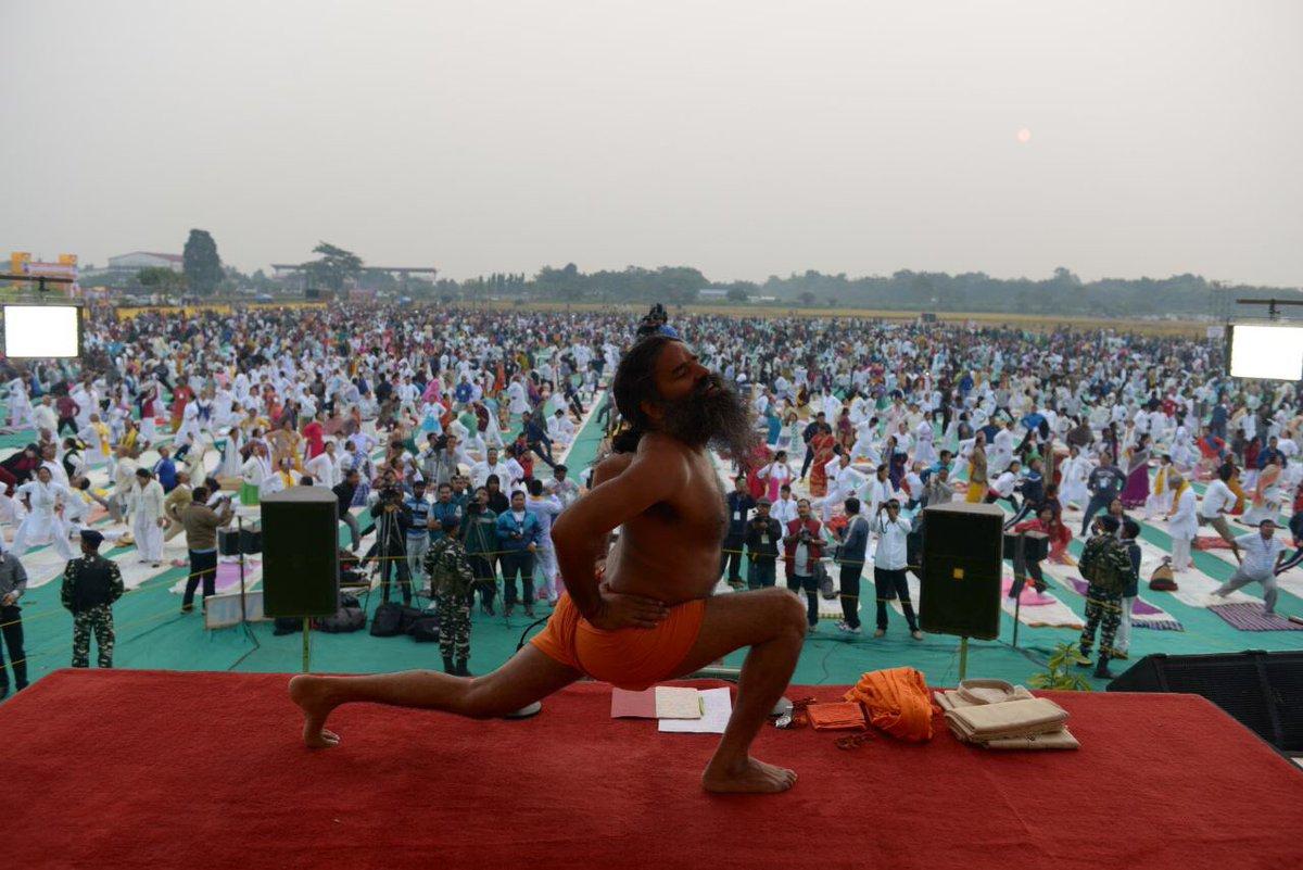 Swami Ramdev On Twitter Day 1 Of Yog Shivir At Kokrajhar Aasam