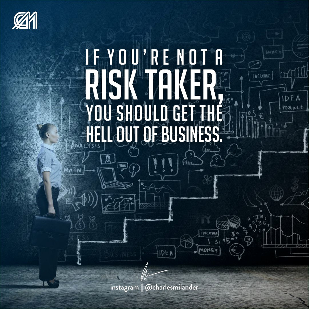 If you're not a risk taker, you should get the hell out of business. #charlesmilander #boss #business #quote #entrepreneur #motivation #inspiration #goals #luxury #dreams #hustle #lifestyle #success #instaquote #money #newyork #nyc #work #working #passion #hardwork #happiness<br>http://pic.twitter.com/UCerPVNWo7