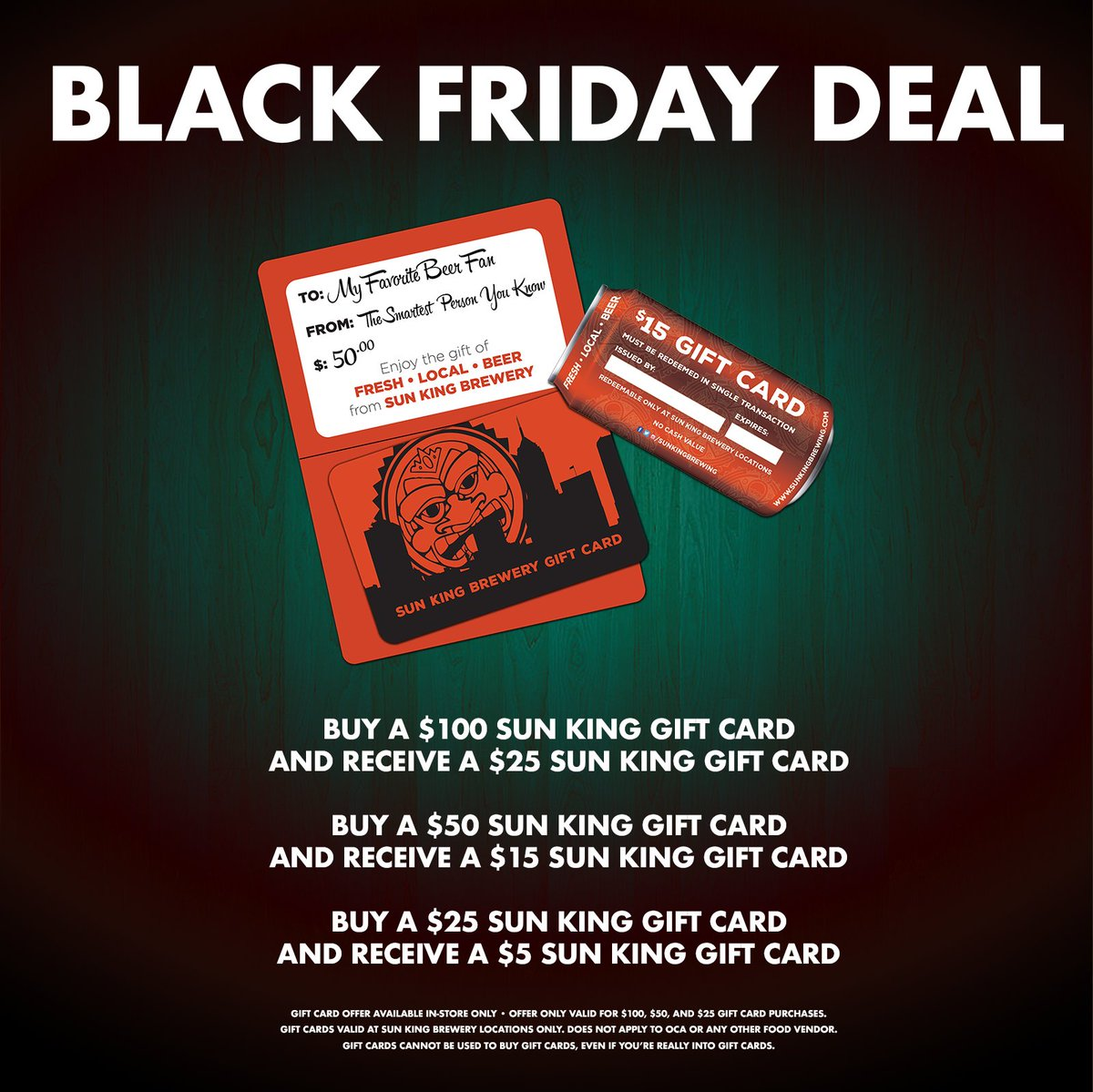not sure what to get the craft beer lover on your holiday gift list weve got a special blackfriday gift card deal thats hard to pass uppictwittercom - Holiday Gift Card Promotions 2017