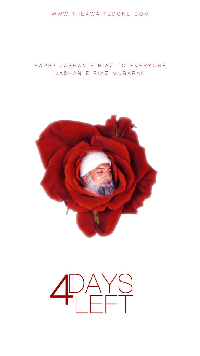 Jashan-e-Riaz is only 4 days away! Learn more about this beautiful day:  http://www. theawaitedone.com/activities/201 7/11/20/25th-november-jashan-e-riaz-2017 &nbsp; …  #LordRaRiaz #GoharShahi #Celebration <br>http://pic.twitter.com/8BhURWXyiJ