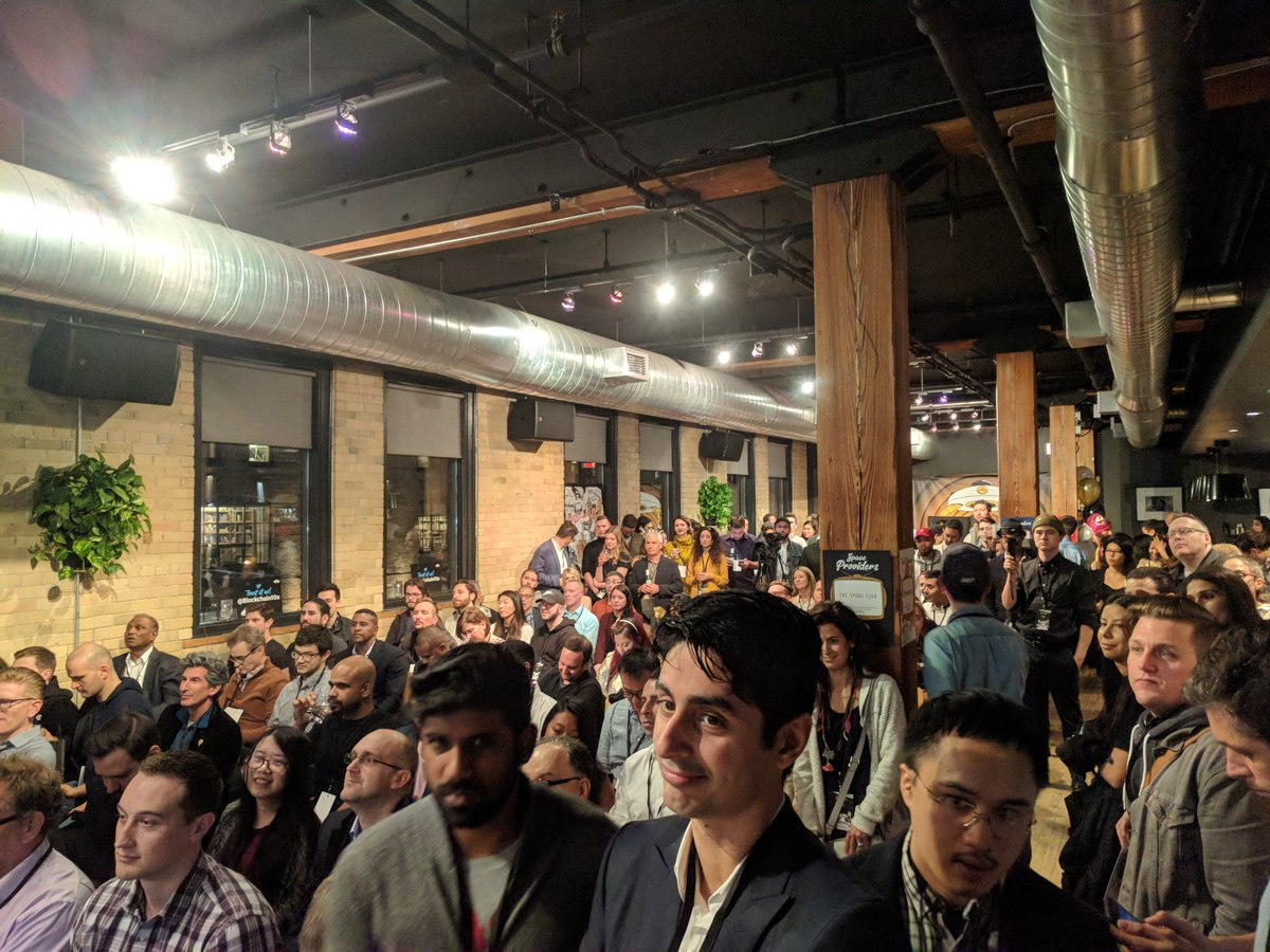 Great #blockchain10x event tonight. Packed house @pixeldreams - https://t.co/YzC4UodGCD https://t.co/IiL5IoCwyc