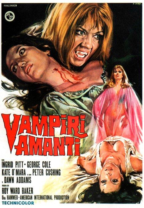 Happy birthday to Ingrid Pitt - THE VAMPIRE LOVERS - 1970 - Italian release poster