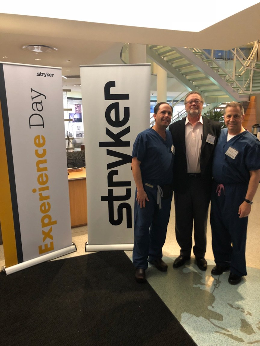 Thank you to our wonderful faculty for a successful Experience Day! Dr. Charles M. Zelen, DPM, Dr. Attila Poka, MD and Dr. Lawrence DiDomenico, DPM. To learn more about Stryker's Foot &amp; Ankle division visit  https://www. stryker.com/us/en/foot-and -ankle.html &nbsp; …  #Stryker #FootAnkle<br>http://pic.twitter.com/cwF60gv4Cc