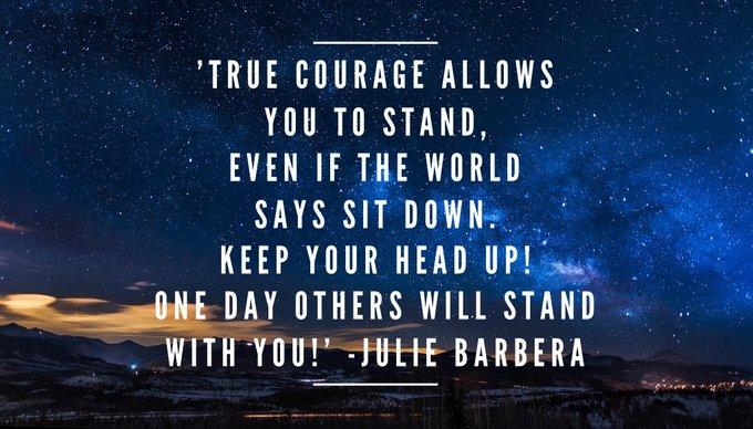 #TRUE #COURAGE ALLOWS YOU TO STAND, EVEN IF THE #WORLD SAYS SIT DOWN...  via @Inspireu2Action  #ThinkBIGSundayWithMarsha #InspireThemRetweetTuesday #IQRTG #JoyTrain  #TuesdayThoughts #TuesdayMotivation #Faith<br>http://pic.twitter.com/oLpNeZpKu7