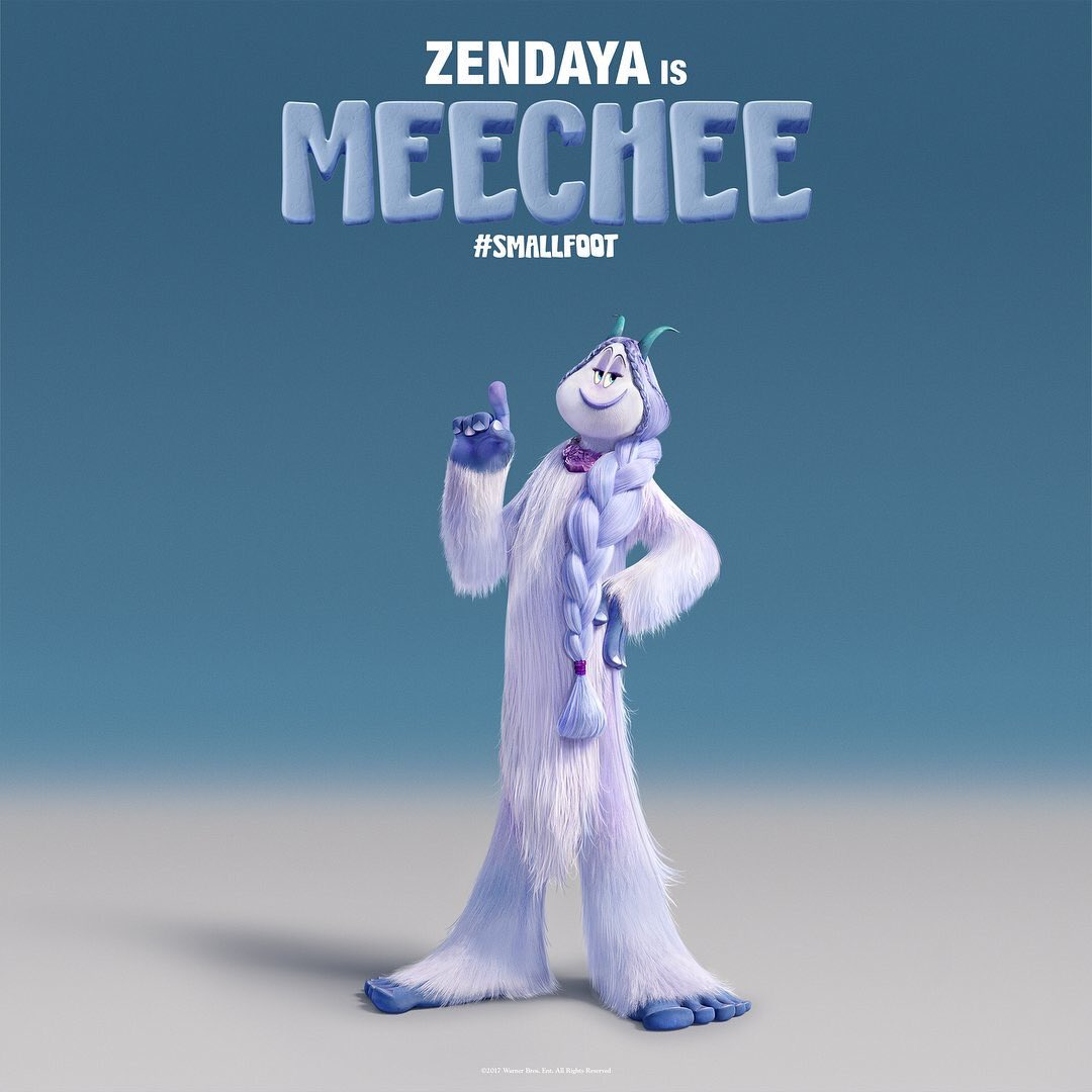 RT @Zendaya: ❄️Kinda excited about this...here's Meechee🤗 #Smallfoot in theaters September 28, 2018.❄️ https://t.co/7sKE5WBmIM