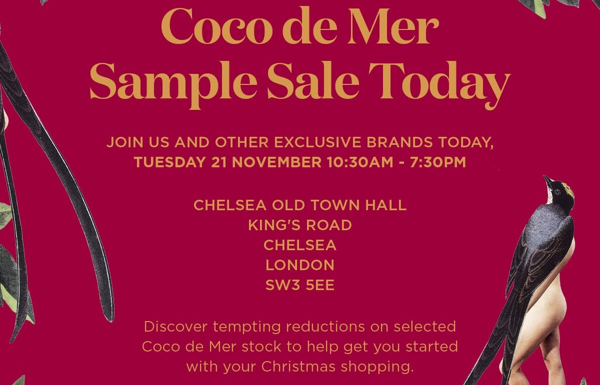 f89e686058 Don t miss our luxury lingerie  samplesale today at Chelsea Old Town Hall