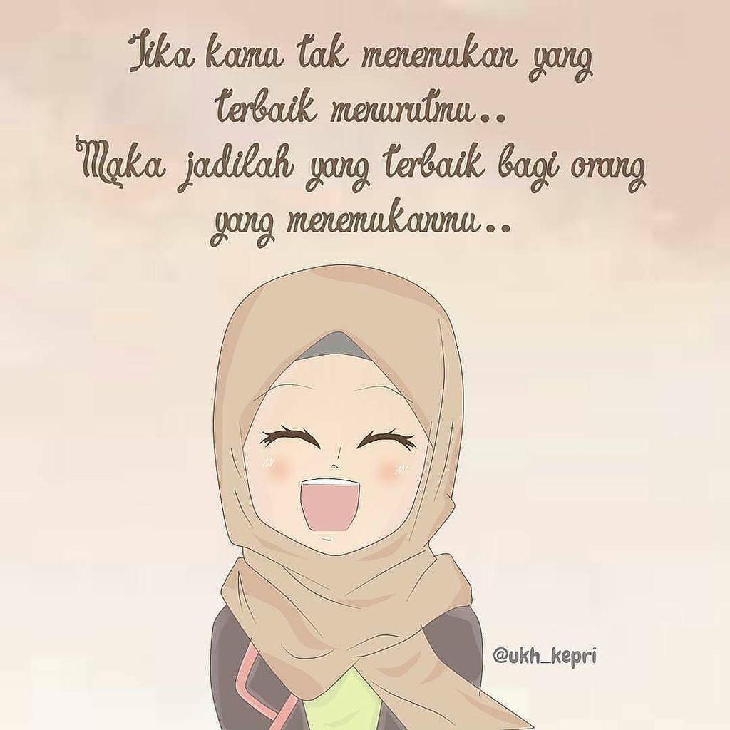 Gambar 100 Gambar Kartun Muslimah Menikah Wanita Berhijab Meme