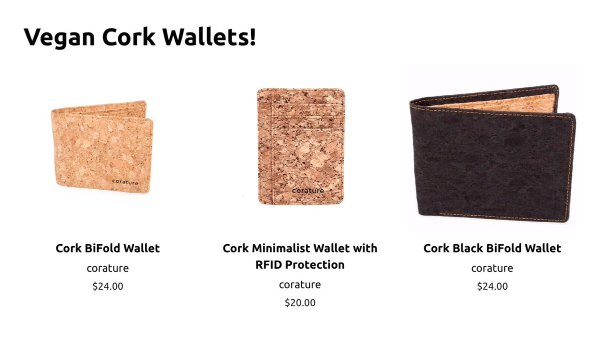 #Vegan wallets made from Cork available at our website  http:// ENZOandGIDGET.com  &nbsp;      #CrueltyFree #Sustainability<br>http://pic.twitter.com/bub8nJ24DD